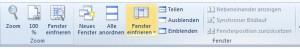 Excel-Zeilen fixieren 1
